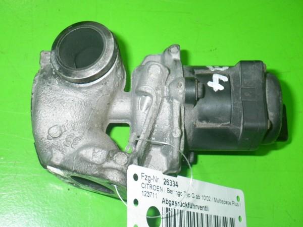 Abgasrückführventil - CITROEN BERLINGO (MF) 1.6 HDI 90 (MF9HX) 9649358780
