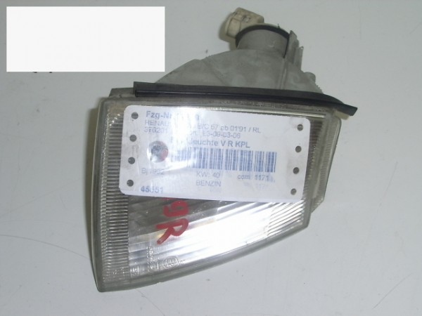 Blinkleuchte vorne rechts komplett - RENAULT CLIO I (B/C57_, 5/357_) 1.2 (B/C57R)