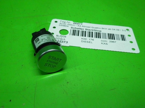 Schalter Start/Stop - AUDI (NSU) A4 Allroad (8KH, B8) 3.0 TDI quattro 8K090521
